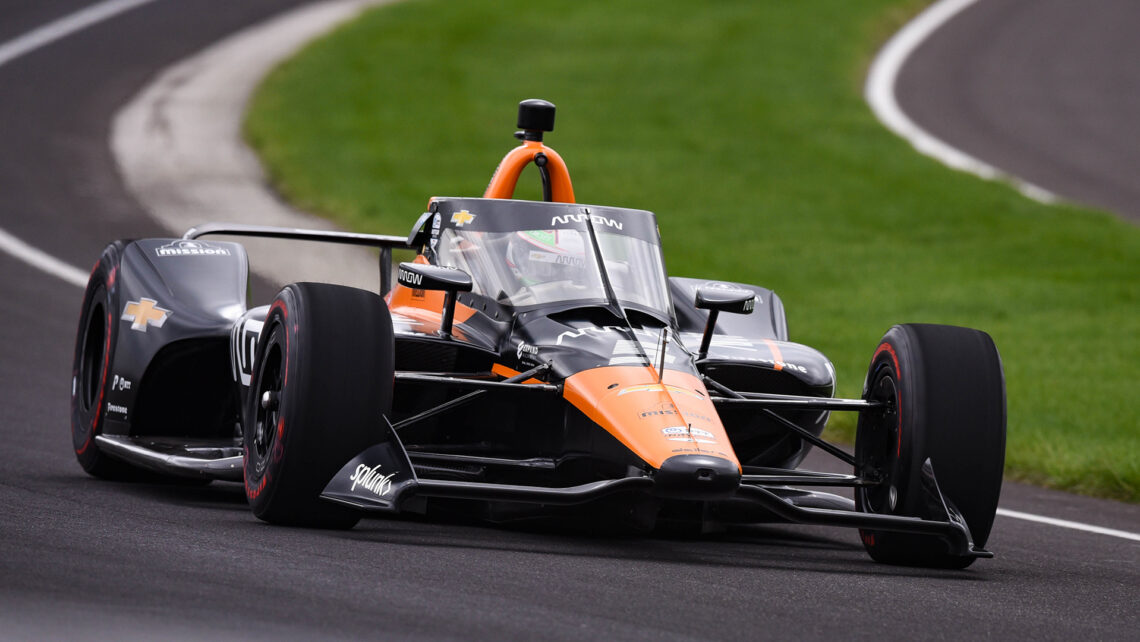 Pato O'Ward at Indy 500 Open Test