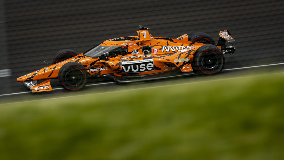 Felix Rosenqvist's Undefeated livery at Indianapolis Motor Speedway